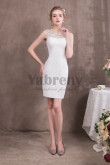 2019 Fashion Knee-Length Sheath White / Lvory Prom dresses so-053
