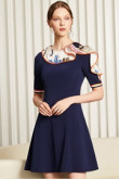 Hot Sale Dark Navy Dressy Homecoming Dresses cyh-016