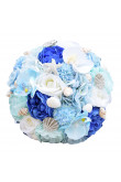 Sky Blue and ivory Artificial Flowers Rose for Beach Wedding with shell and starfish