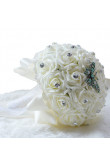 Ivory Artificial Flowers Rose for Bride with Dragonfly and Crystal