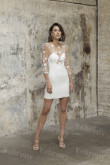 Lace Wedding Guestd Dress Hip Package Bride Dress so-239