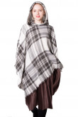 Ladies Hooded Cape Plaid Poncho Fall Winter Wrap for Women Free Shipping