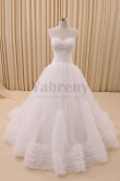 Layered Tulle Wedding dresses Chest Feathers In kind Shooting wd-030
