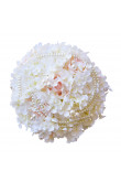 Home Garden Party Wedding holding flowers with Hand Beading pearls