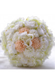Milk White and Pink Gorgeous Discount Wedding bouquets for bride