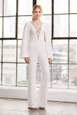 Modern Bridal Jumpsuits Wedding Cape dresses so-127
