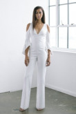 Modern Deep V-Neck Wedding Jumpsuits dresses so-128