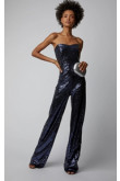 Navy strapless sequin jumpsuit Cocktail dresses so-174