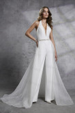 New Arrival Halter Wedding Jumpsuit Deep V-Neck Prom Jumpsuits so-218