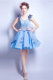 New Arrival Sky Blue Homecoming Dresses prom Dresses with butterfly TSJY-049