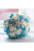 Ocean Blue and ivory Artificial Flowers Rose for Beach Wedding