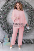 Pink 2PC Mother's Outfits for  Wedding Party, Plus Size Mother Of the Pants Suits mps-523-7