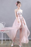 Pink Gorgeous Homecoming Dresses Embroidery under $100 party Dresses TSJY-152