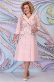 Pink Mother Of The Bride Dress Tea-Length Special Occasion Dressy With Garments mps-460-1