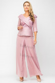 Pink Mother of the bride pants suit 2PC Trousers Set Women's Outfits mps-307