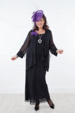 Plus size Black 3 Pieces Chiffon Mother of the bride dresses mps-028