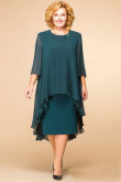Plus Size Dark Green Modern Mother Of The Bride Dresses mps-075