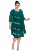 Plus Size Dark Green Sequins Lace Mother Of The Bride Dresses mps-374