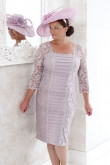 Plus size Knee-length Mother of the bride dress mps-330