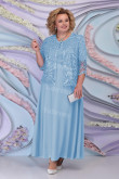 Plus Size Modern Sky Blue lace Mother of The Bride Long Dresses mps-443-6
