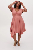 Plus Size Pearl Pink Women's Dresses,Tight Satin Mid-Calf Mother Of The Bride Dresses mps-409