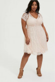 Plus Size Pink Champagne Lace Mother Of The Bride Dresses,Sweetheart Knee-Length Women's Dresses mps-396