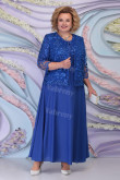 Plus Size Royal Blue Mother of the bride dresses With Jacket Occasion outfit mps-443-3