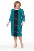 Plus Size Women's Dress, Dark Green Lace Mother Of the Bride Dresses mps-450-3