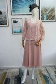 Real pic Three piece Mother of the bride dress Bean paste outfit mps-178