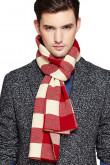 2019 Red and Beige wool plaid high-end autumn and winter Men's scarfs
