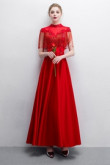 2020 Fashion Red Beaded Satin Prom dresses With Tassel so-020