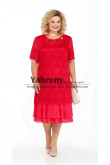 Red Lace Mother of the bride dress Plus Size Women's Dresses mps-497-2