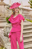 Rose Red Dressy Women's suit women's Trousers mps-302