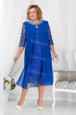 Royal Blue Mother Of The Bride Dress, Mid-Calf  Plus Size Women's Dresses mps-446-3