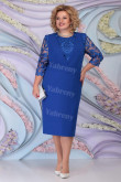 Royal Blue Lace Half Sleeves Mother of the Bride Dresses Plus Size Women's Dress mps-467-4