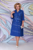 Royal blue Modern Mother Of The Bride Dress Plus Size Women's Dress mps-460-4