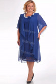 Royal Blue Mother Of The Bride Dress Plus Size Mid-Calf Women's Dresses mps-448-2
