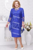 Royal Blue Plus Size Women's Outfis Cheap Knee-Length Mother of the Bridal Dresses mps-367-4