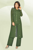 Sage Three Piece mother of the bride pants suits mps-207