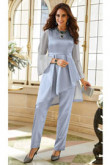 Satin Mother of the bride pant suit Two pieces outfit special occasion Wear mps-084