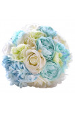 Sky Blue and withe Artificial Flowers Rose for Beach wedding