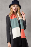 Stylish British Wind Woman Autumn Winter Plaid Scarves Black Gray White and Pink