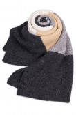 Stylish British Wind Oversized Autumn Winter Plaid Scarves Charcoal Champagne and Ivory