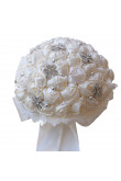 Wedding bouquets for bride ivory for bride Bouquet with Hand Beading Pearls