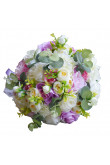 Lace Silk Artificial Flowers Rose for Bridesmaid Bouquet