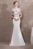 2020 Fashion White Hand beading Cape Pattern Prom dresses so-026