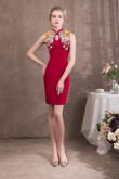 Chinese Style Red Knee-Length Sheath Prom dresses so-054