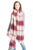 2019 New arrival Women's Scarf Classic Long Shawl Red and gray Plaid Scarves
