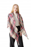 Women's Plaid Shawl lightweight scarf Spring Fall Winter