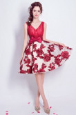 Yabreny 2019 A-line Homecoming dress Burgundy Handmade Flower Prom Dresses TSJY-003